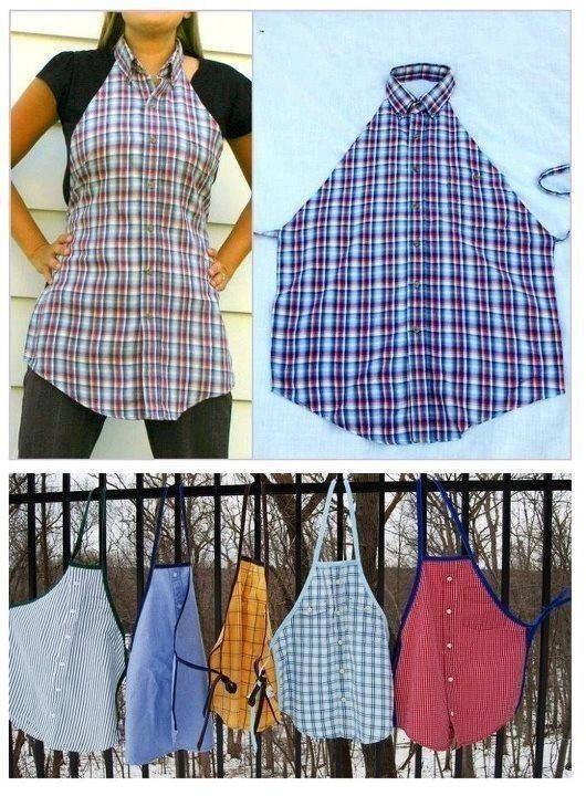 Una forma linda y práctica de reciclar las camisas que ya no usamos!!