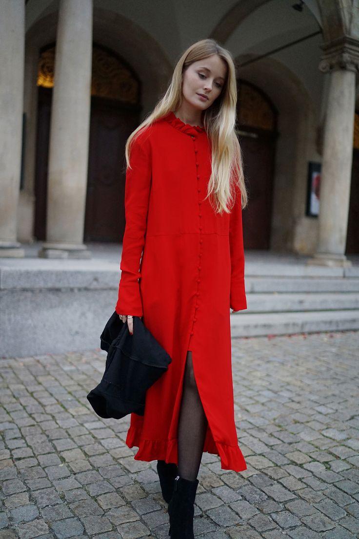 RED MAXI DRESS | W.KRUK - KWIATY NOCY: PATINESS