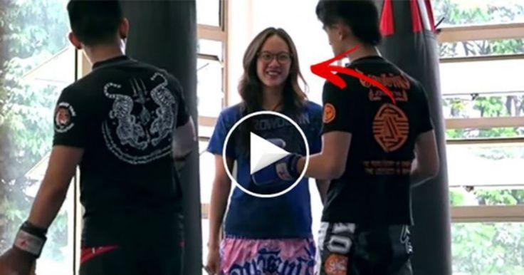 Πρωταθλήτρια κικ-μπόξερ παριστάνει την άσχετη και τους βγάζει νοκ άουτ! [Βίντεο] Crazynews.gr