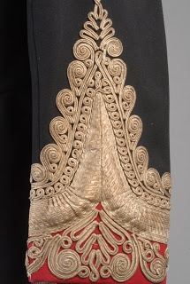 Victorian Oxfordshire Hussars Full Dress Tunic -- cuff detail