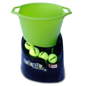 My dogs would LOVE this!Go Dog Go - Automatic dog ball thrower from Find Me A Gift