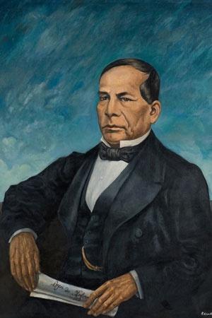 Retrato de Benito Juárez García  Roberto Montenegro  1962  Óléo sobre tela  157 x 126 x 10 cm.  Colección Museo de Historia Mexicana        Ubicación: Sala 2,Museo del Palacio   www.3museos.com