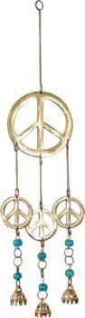 Peace symbol wind chime