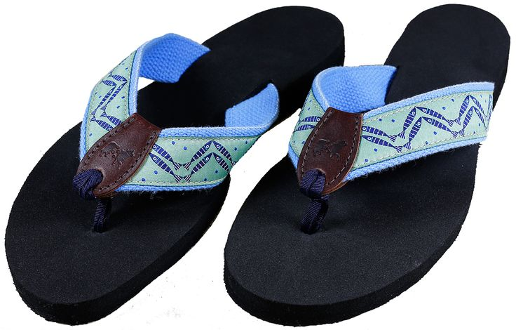 Design by Tröskö Design for Belted Cow Company - Herringbone Fish (washed green) Flip Flops,  $48.00 (http://www.beltedcow.com/products/herringbone-fish-washed-green-flip-flops.html)