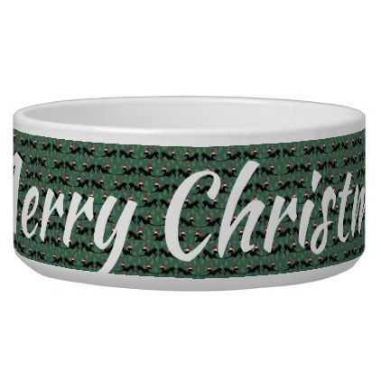 Italian Greyhound Dog Bowl Merry Christmas - home gifts ideas decor special unique custom individual customized individualized
