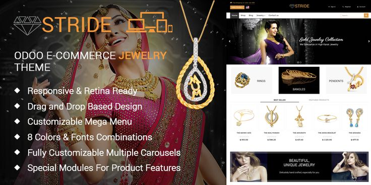 Stride Jewelry Theme for Odoo v9 Ecommerce | 73Lines
