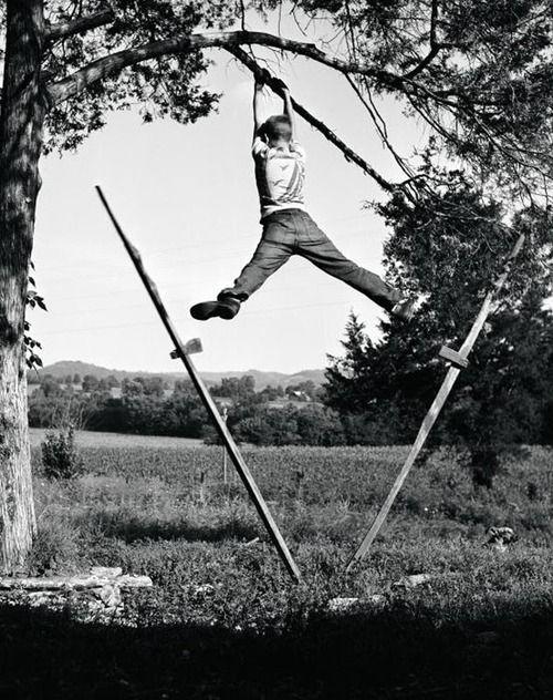 oops!  Boy in Predicament, Cannon County, TN, 1952, Robert W. Kelley.