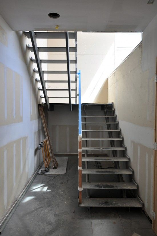 Contemporary Steel Stairs   Stainless Steel Handrail Construction Process.