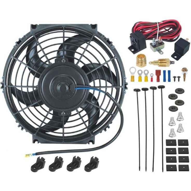 """12"""" Inch Electric Radiator Fan Thread-in Grounding Thermostat Kit"""