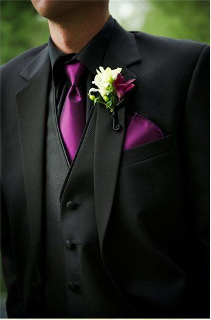 Wedding Tuxedos And Purple Wedding On Pinterest