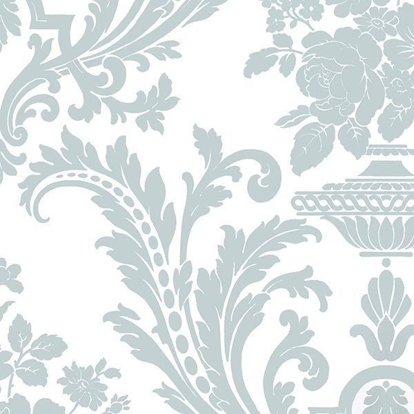 Wallpaper Inn Store - White with Duck Egg Blue Damask, R699,95 (http://shop.wallpaperinn.co.za/white-with-duck-egg-blue-damask/)
