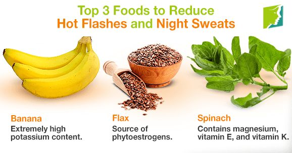 Top 3 foods to reduce hot flashes and night sweats.