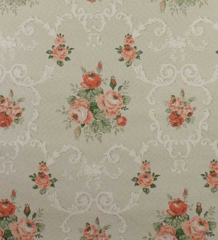 Vintage rozen behang  Swiet More