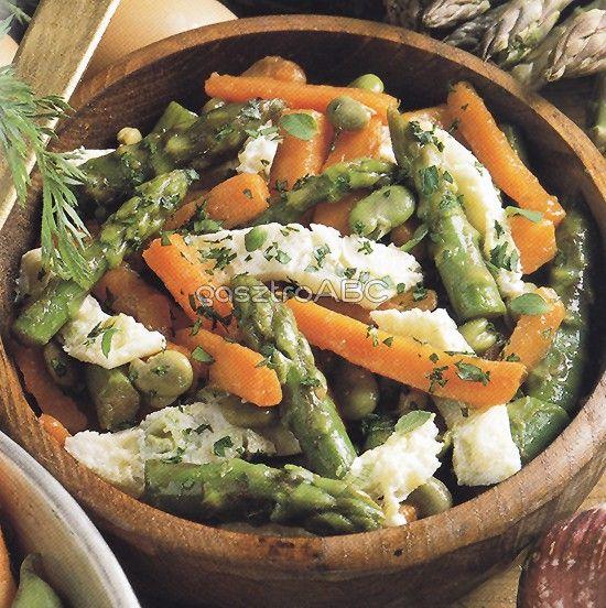 Pirított zöldségek tojásfehérjével