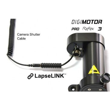 No more tangled cables between your drive and the camera. With LapseLINK you'll directly connect your camera cable directly to DigiMOTOR in order to be controlled by DigiDRIVE Portable for outstanding Shoot Move Shoot Timelapses