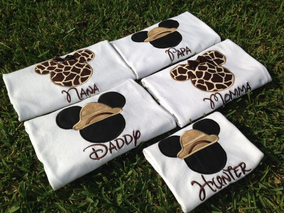 Safari Disney World Shirts for the Family Mickey & by CuteZTootZ