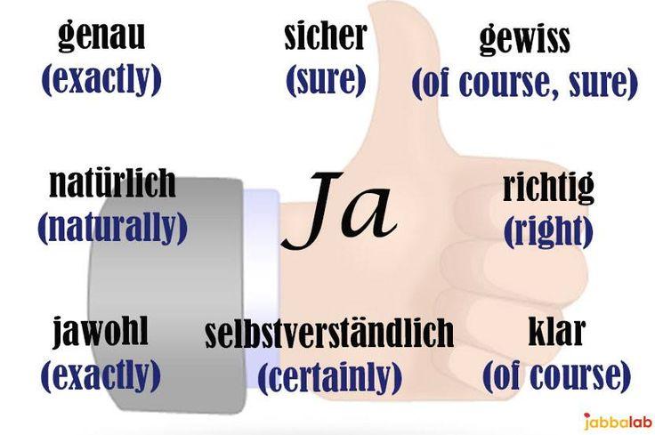 Ja gewiss (of course) genau (exactly) sicher (sure) jawohl (exactly) klar natürlich richtig selbstverständlich (of course) - Daily Dose of German