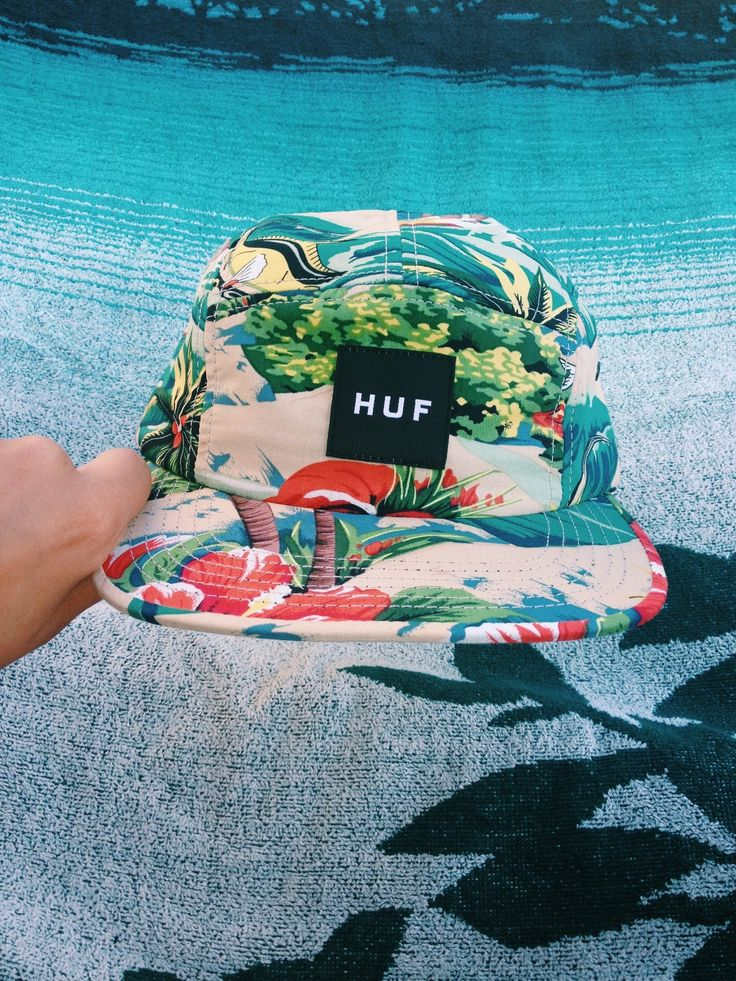 A HUF 5-panel with a Tropical print