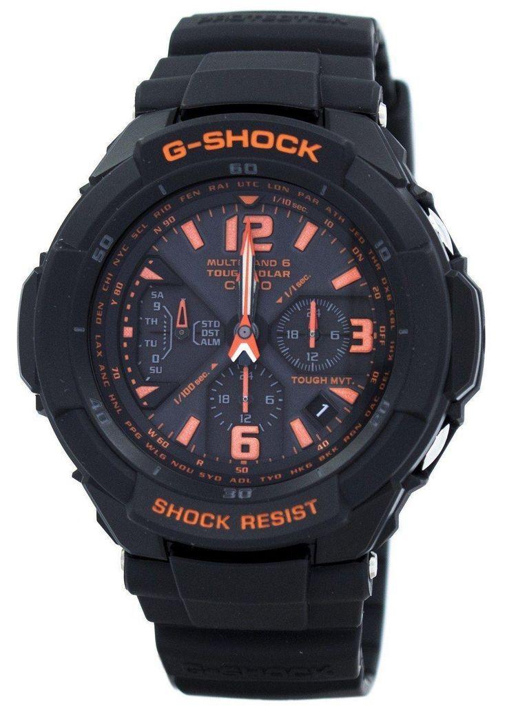 Casio G-shock Multi Band 6 Tough Solar World Time Gw-3000b-1a Men's Watch (FREE Shipping)