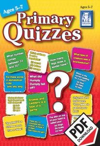 These worksheet quizzes can be presented and marked in a variety of ways, allowing students to work individually or in groups. Recording sheets are provided to record students' results. Suggestions for expanding the topics in each quiz are also provided, covering a range of curriculum and skill areas. Ebook PDF download.