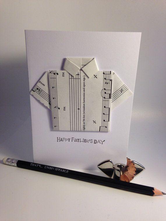 Origami 'Happy Father's Day' greeting card  por LifesBigCanvas