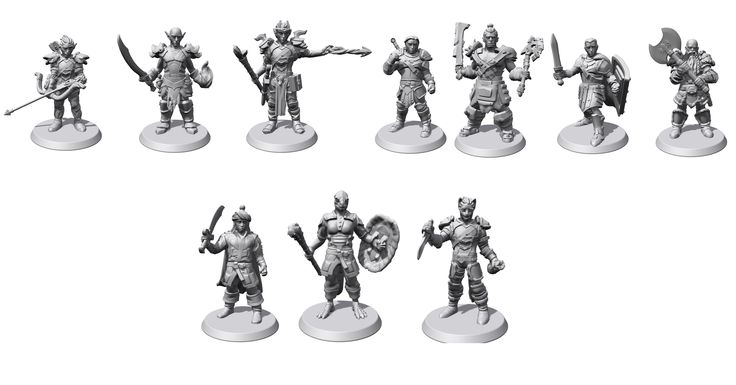 Elder Scrolls Miniatures made using Hero Forge #games #Skyrim #elderscrolls #BE3 #gaming #videogames #Concours #NGC