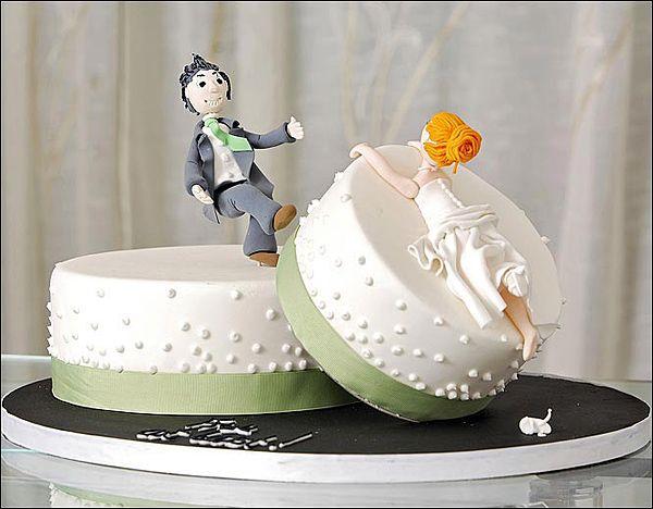 Un gâteau de mariage ?? Non ! de divorce !