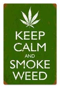 Vintage weed sign.