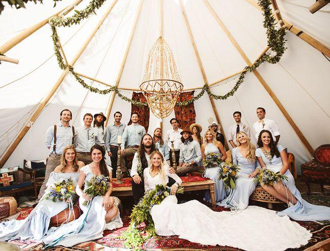 dit is hoe een festival style bruiloft eruit kan zien