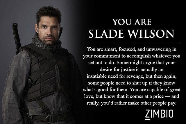 I took Zimbio's 'Arrow' quiz and I'm Slade Wilson! Who are you?