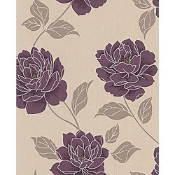 JMK says:- I have this B and Q wallpaper on one feature wall in my living room and it looks great. Fireplace wall is painted in the purple colour and he other walls are painted cream as they have pictures on them,
