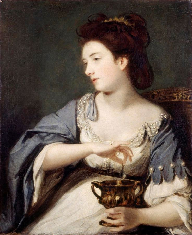 books0977 - Kitty Fisher as Cleopatra Dissolving the Pearl (1759). Joshua Reynolds (English, 1723-1792). Oil on canvas. English Heritage. At...
