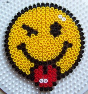 Smiley hama perler beads by Les loisirs de Pat