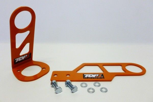 Top1 Motors – #EK9 Race Tow Hooks (Rear) £45.00 TOP1 #MOTORS Race design tow hooks are made from 3/16 in. orange powder coated steel for durability and feature a 2 1/4 in. diameter opening. They are vehicle specific and bolt on to factory mounts on strut tower. The rear tow hook bolts to inner #bumper support.