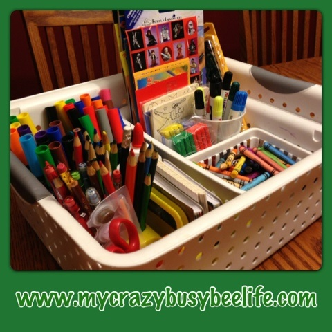 Kidu0027s Art Basket From Crazy Busy Bee. Fun And