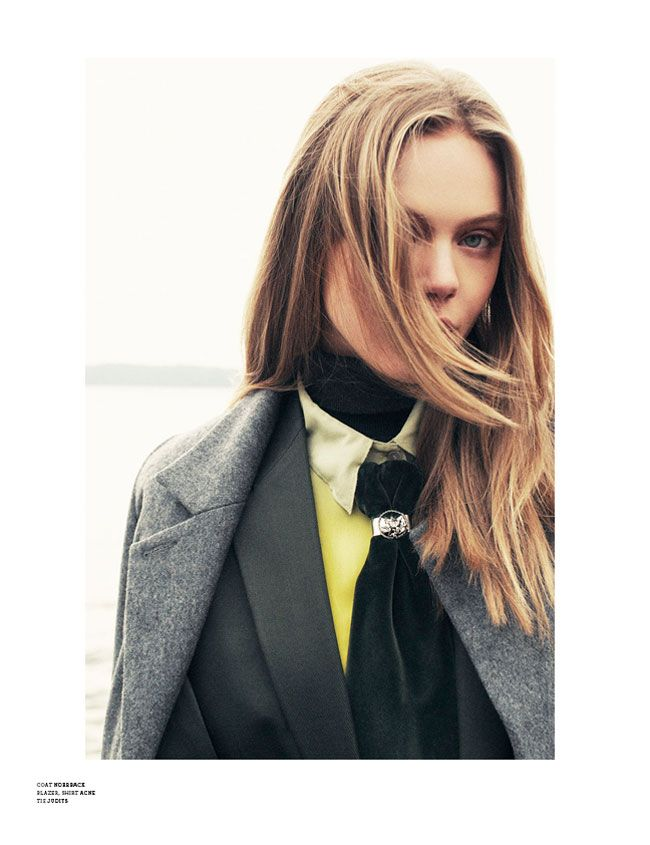 "black velvet tie: ""Frida Gustavsson by Andreas Öhlund for Stockholm S/S/A/W 2012"""