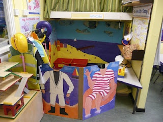 My seaside role play area from last year. So proud of it, really pleased with all the little touches I gave it!