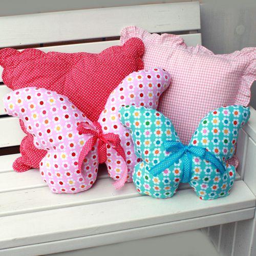 DIY Butterfly Pillow Free Pattern Bij Hiphandwerk Ik Vind Ze Beauteous Pillow Sewing Patterns