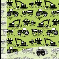 Machines organic jersey, apple green
