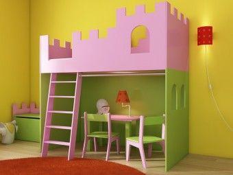 Detská vyvýšená posteľ ZÁMOK