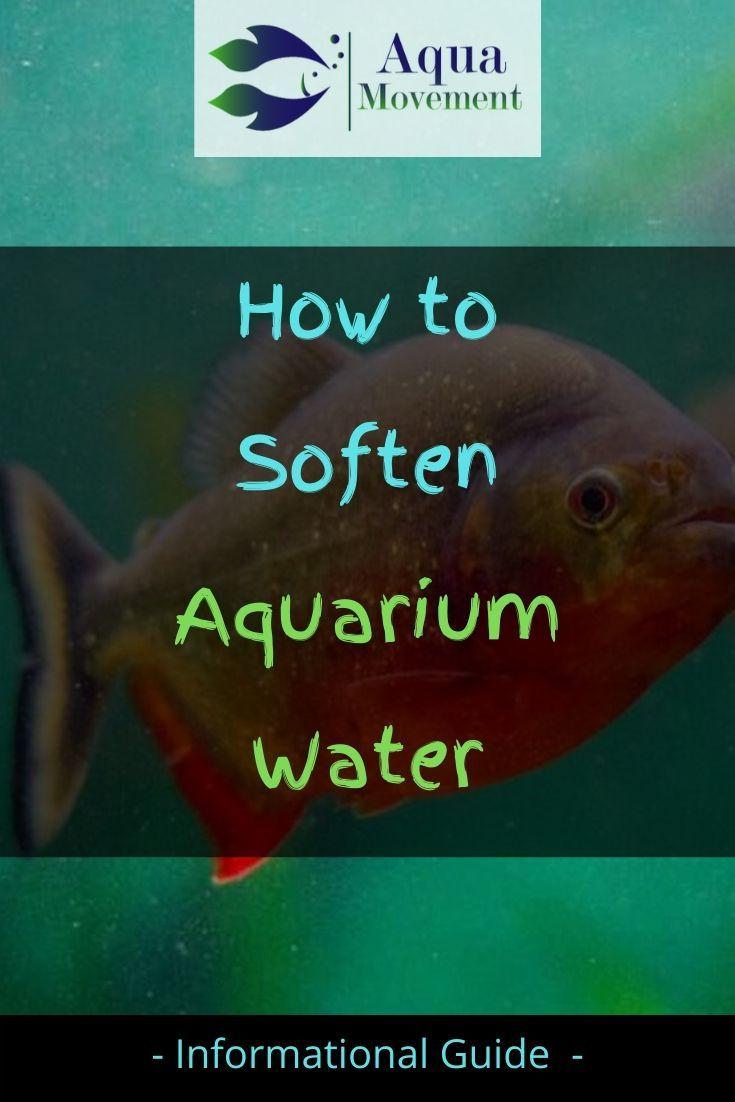 5 Ways On How To Soften Aquarium Water Aqua Movement In 2020 Aquarium Marine Fish Tanks Aquarium Maintenance