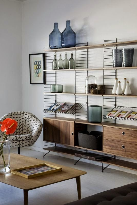 The String Unit Bookshelf From South Africa Based Shop Mezzanine Is An Airier Wire Version Of Traditional Wood Shelving Systems