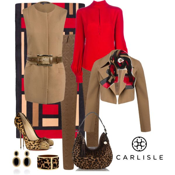 """""""Lady in Red Blouse"""" by cricket5643000 on Polyvore"""