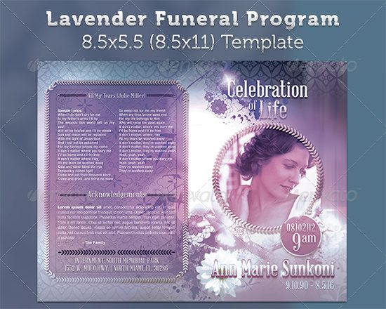 Free Funeral Program Template Microsoft Word | Tomu.Co