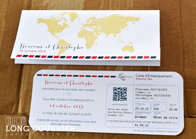 "Collection ""Long Courrier"", un faire-part billet d'avion moderne et différent ! – La Crafterie"