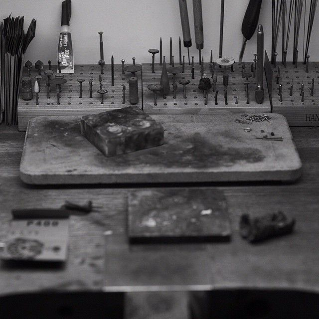 This is where the magic happens #workshop #jewellerydesign