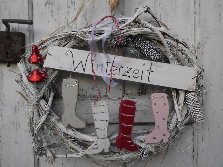 Türkränze - ♥Türkranz- Weihnachten ♥ - ein Designerstück von HausNo7 bei DaWanda