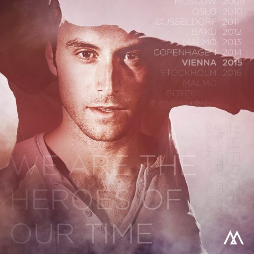 #HEROES Mans Zelmerlow, song number 13 in semi final two. #Eurovision #Sweden
