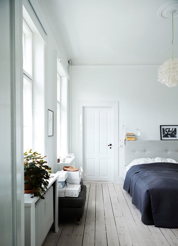 beautiful bedroom in a spacious Copenhagen apartment