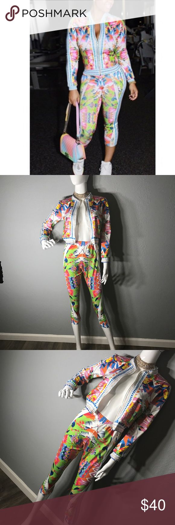 Two piece pant set Nice set is leggings fabric / price